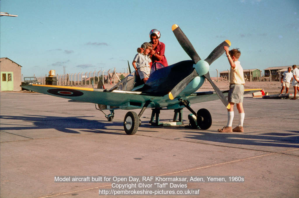 Model aircraft built for Open Day, RAF Khormaksar, Aden, Yemen, 1960s