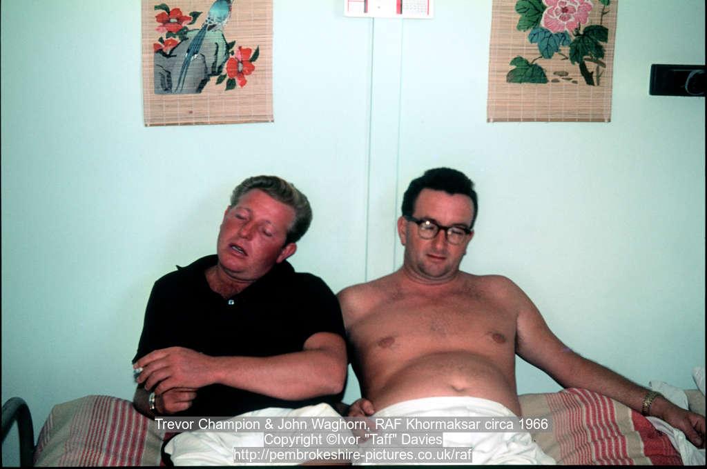Trevor Champion & John Waghorn, RAF Khormaksar circa 1966