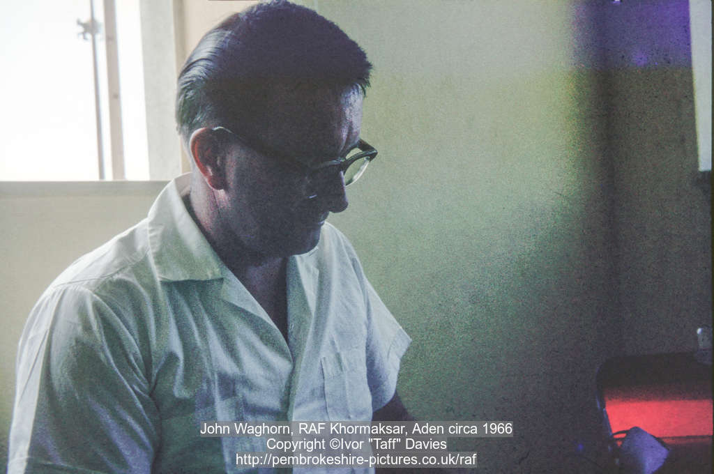 John Waghorn, RAF Khormaksar, Aden circa 1966