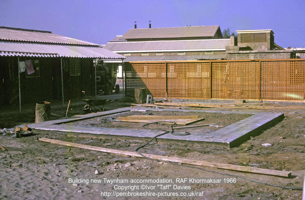 Building new Twynham accommodation, RAF Khormaksar 1966