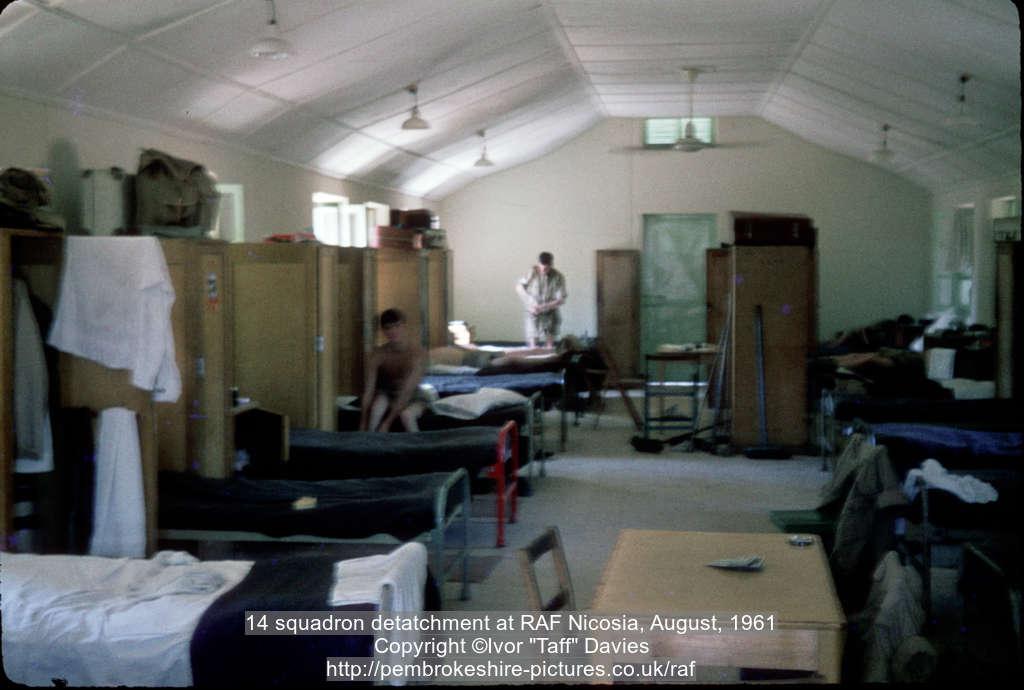 14 squadron detatchment at RAF Nicosia, August, 1961