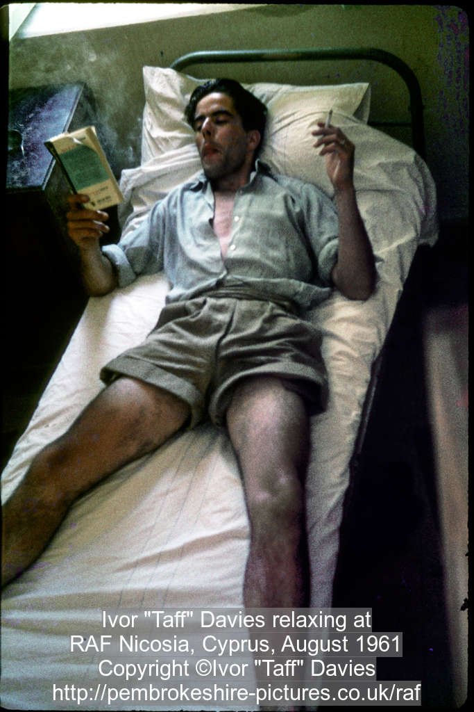 "Ivor ""Taff"" Davies relaxing at