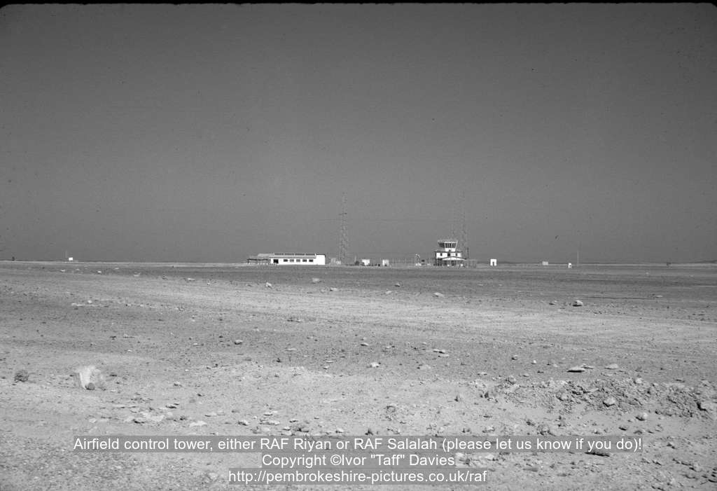 Airfield control tower, either RAF Riyan or RAF Salalah (please let us know if you do)!