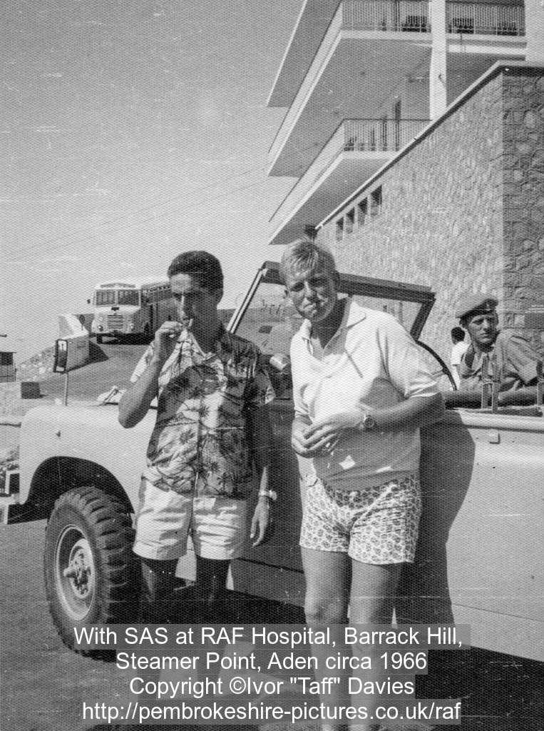 With SAS at RAF Hospital, Barrack Hill, 