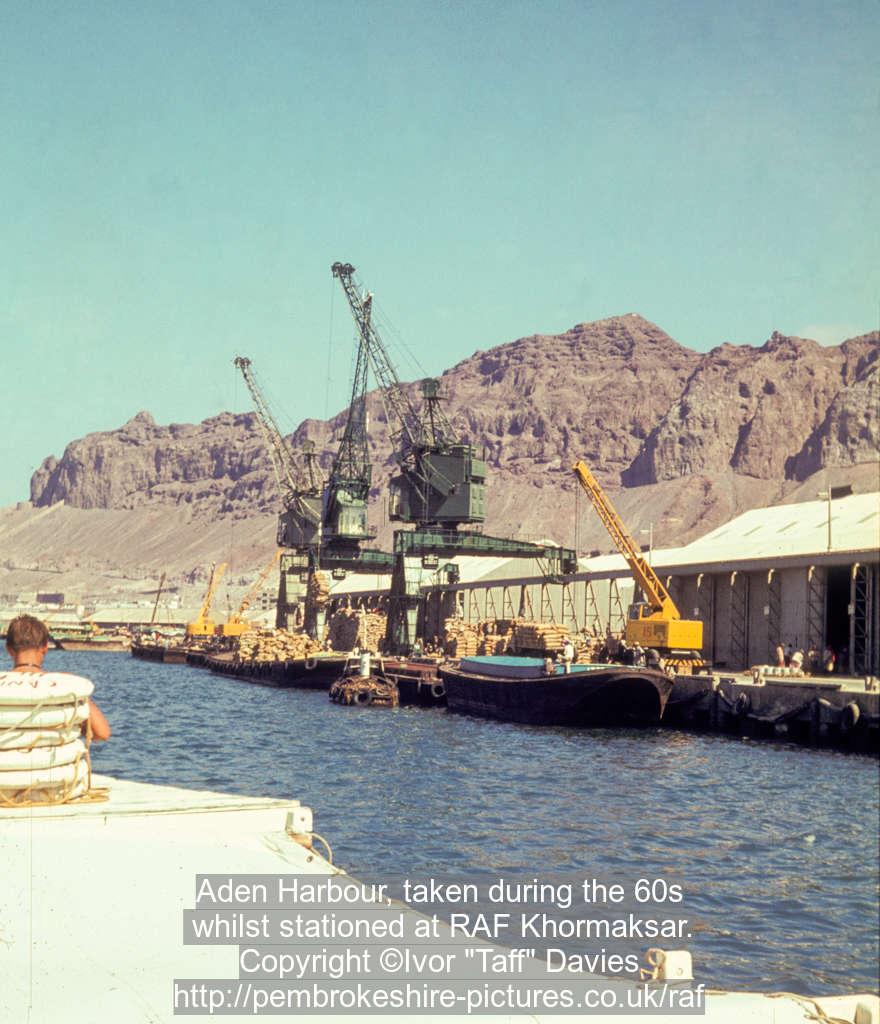 Aden Harbour, taken during the 60s whilst stationed at RAF Khormaksar.