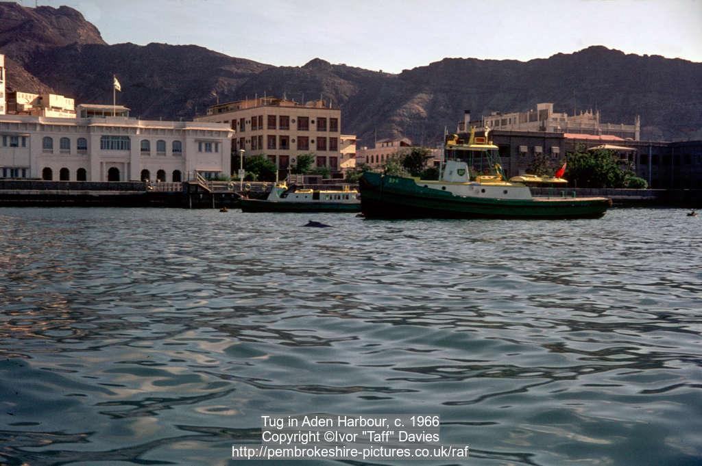 Tug in Aden Harbour, c. 1966