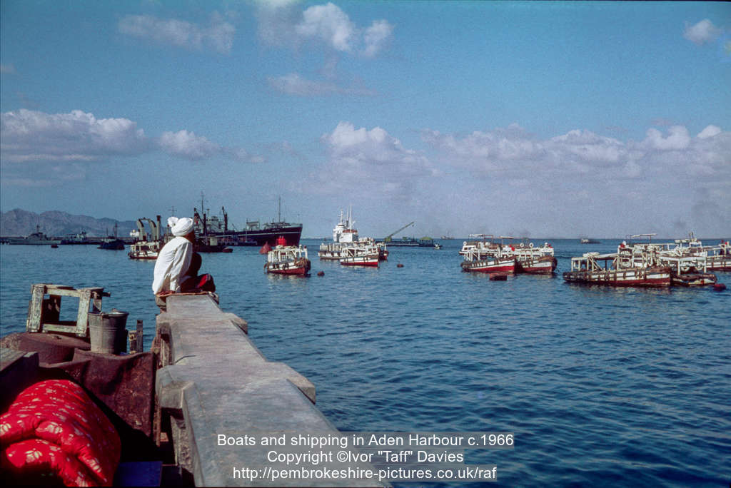 Boats and shipping in Aden Harbour c.1966