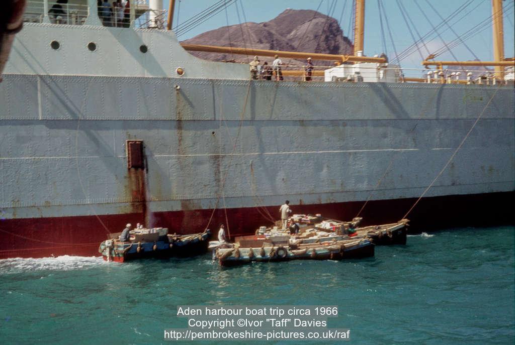 Aden harbour boat trip circa 1966