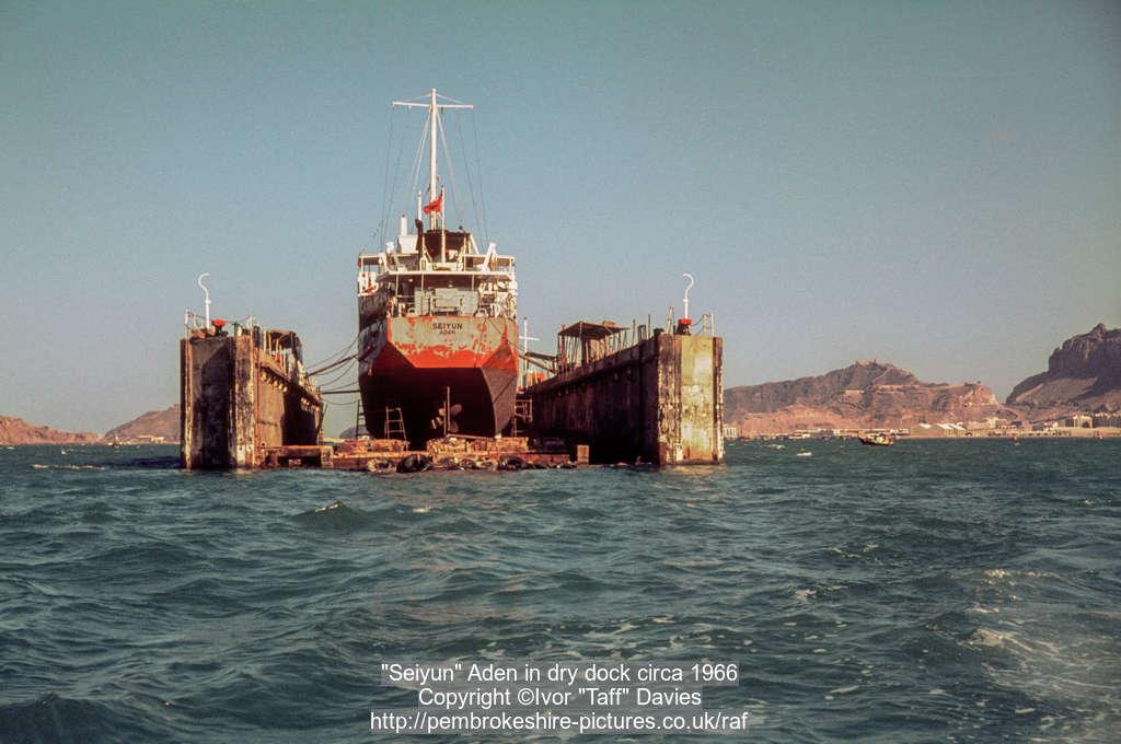 """Seiyun"" Aden in dry dock circa 1966"
