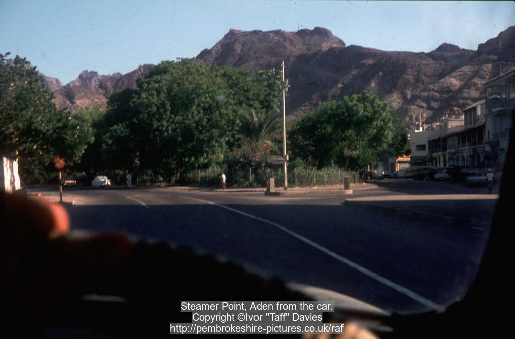 Steamer Point, Aden from the car.