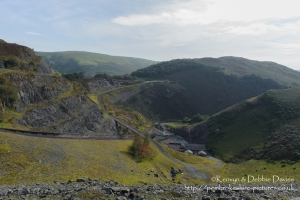 On Llyn Brianne Dam  in the Cambrian Mountains