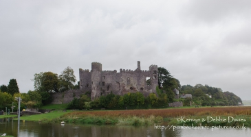 Looking over the Taf Estuary, Laugharne Castle was built in the 13th Century - probably replacing an earlier Norman ringwork castle - by the de Brian family and converted to a mansion by Sir John Perrot in the 16th Century.