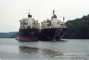 The Pomorac and Radnik laid up in Fal River, Falmouth in 1995