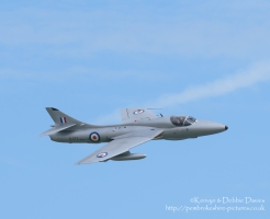 Hawker Hunter T.7 XL573 at Wales National Airshow 2015