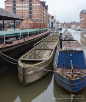 Narrowboats in Gloucester