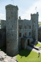 Harlech Castle, Tremadog Bay, Snowdonia National Park in Gwynedd. Built by Edward I from 1283-1290, it is part of the