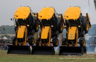 JCB Dancing Diggers at CarFest 2013