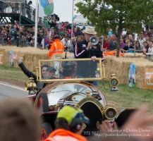 Seasick Steve driving Chris Evans around at Carfest 2013 in Chitty Chitty Bang ...