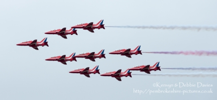 The Red Arrows at CarFest 2013