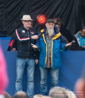 Chris Evans with Seasick Steve at Carfest 2013