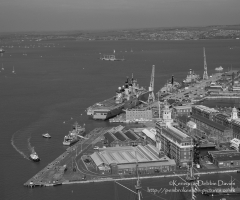 HMS Illustrious in Portsmouth Harbour