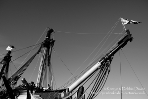 Bow of HMS Victory in Portsmouth