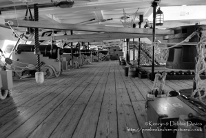 Lower Gun Deck of HMS Victory in Portsmouth.