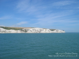 Leaving for 2003 France Trip, The White Cliffs from the ferry