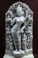 Suculpture of Sarasvati, Central India Early 11th century AD at The British Mus...