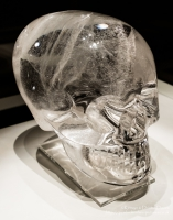 Rock crystal skull at The British Museum