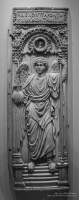 Ivory panel with archangel at The British Museum