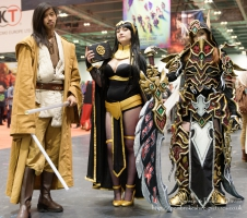 Cosplayers at London Comic Con 2016