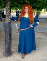 Jemma Le Pelley as Princess Merida from Brave at London Comic Con