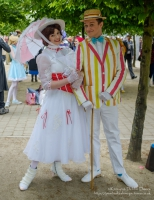 Mary Poppins and Bert at London Comic Con 2016