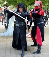 Little Miss Metamorph as Darth Vanitas and D2SCosplay as Darth Ri'tarah at Lond...