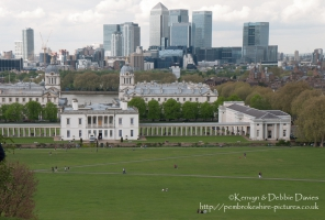 View from Royal Observatory of The Queens House, Greenwich