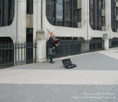 Bagpipes busking