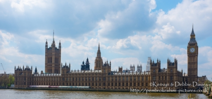 The Palace of Westminster and Big Ben (Elizabeth Tower) in London