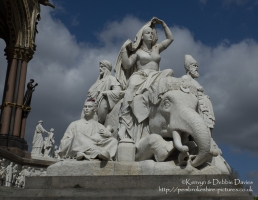 """Asia"" alegorical sculpture at The Albert Memorial"