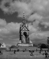 The Albert Memorial, black & white straight from camera