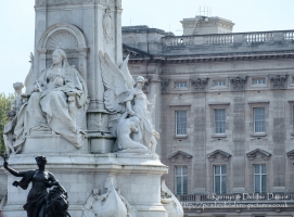 Statue of Queen Victoria on The Victoria Memorial at Buckingham Palace