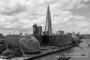 The Shard and mayor's office from Tower Bridge