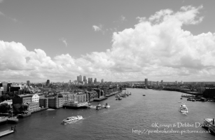 Skyline from Tower Bridge, London