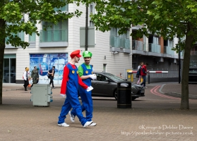 Mario and Luigi at Comic Con