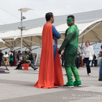 Superman and Green Lantern at London Comic Con