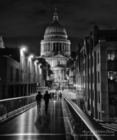 St. Paul's Cathedral in London from the Millennium Bridge