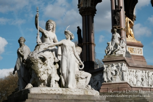 """America"" alegorical sculpture at The Albert Memorial"