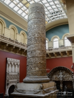 Plaster casts of Trajan's Column in the Victoria and Albert Museum, London