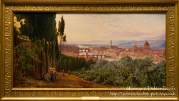 Florence from the Villa San Firenze by Edward Lear, 1862 at the Ashmolean Museu...