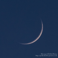 Waxing Crescent Moon. First time visible from new moon in April 2015.